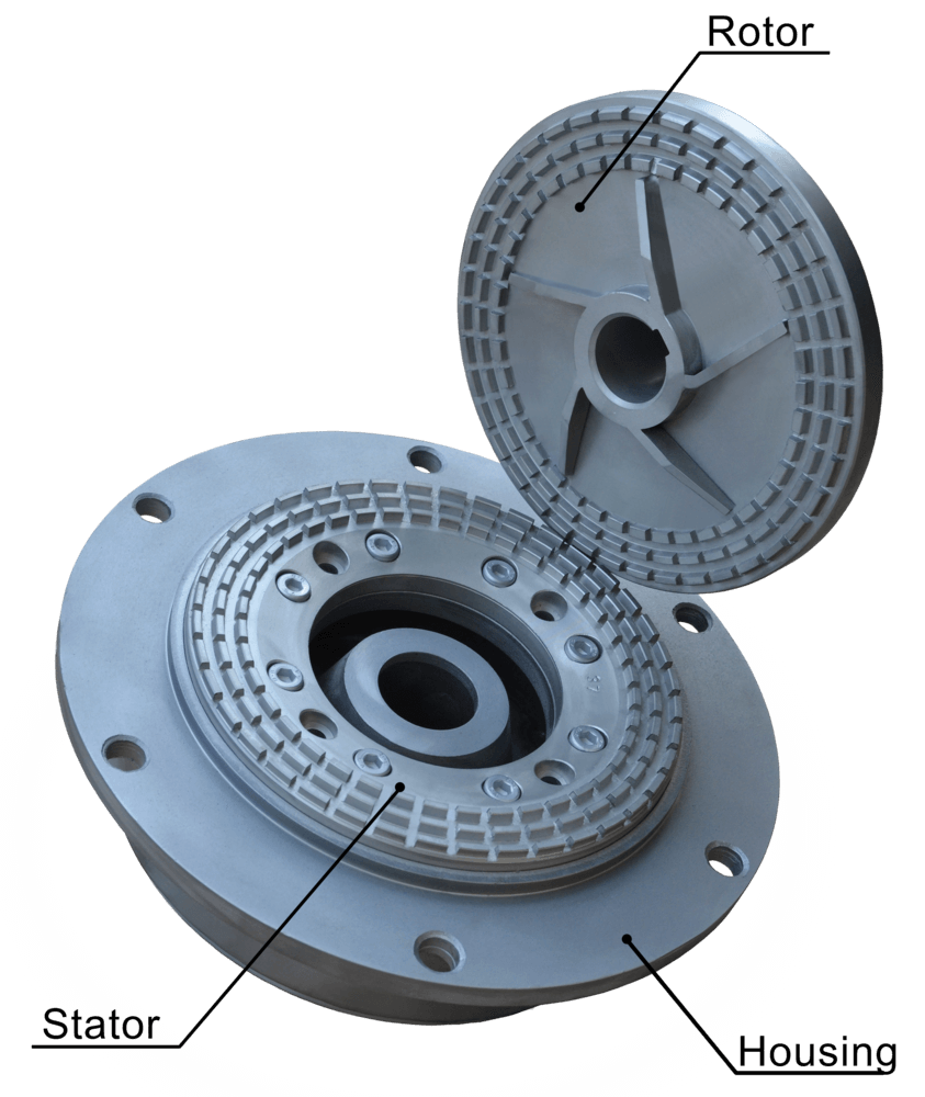 Roror and stator of colloid mill GlobeCore